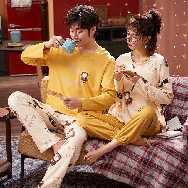 Купить пижама женская хлопковая с длинным рукавом на осень 2020 картинки цена
