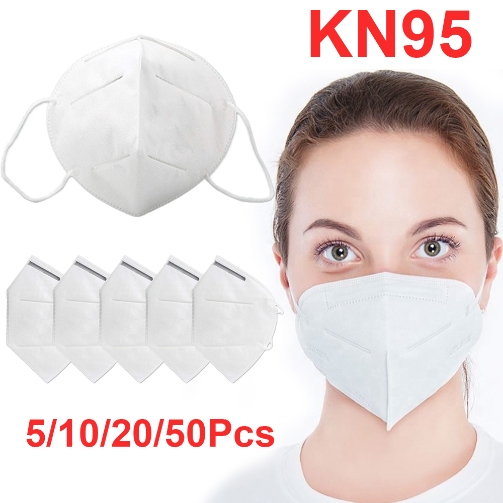 1/5/10PCS KN95 Protective Mask 5 Layers Respirator Same As KF94 FFP3 Face Mask Anti PM2.5 Bacterial Dustproof 95% Filtration