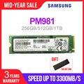 SAMSUNG SSD M.2 PM981 256 ГБ 512 1 ТБ твердотельного жесткого диска M2 NVMe PCIe 3 0x4 NVMe 1 3 ноутбук внутренний disco duro TLC