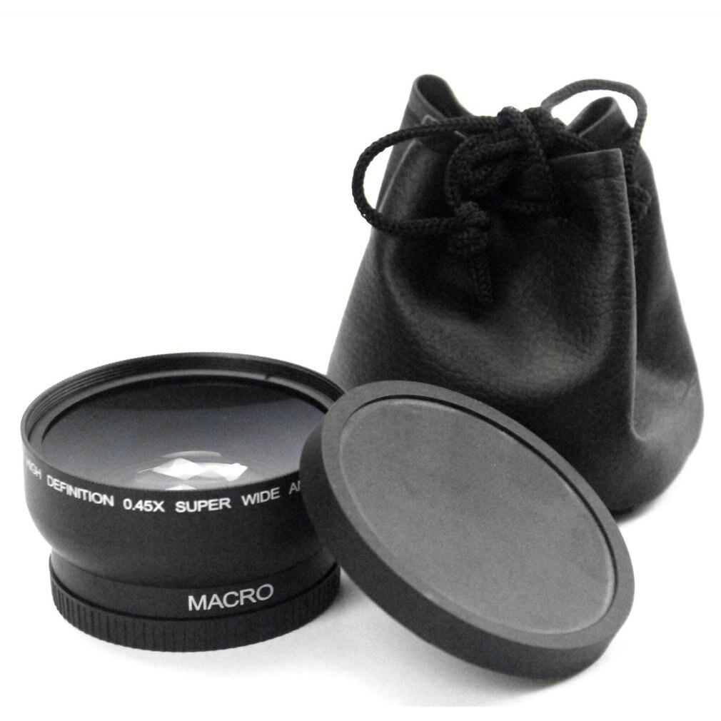 58MM 0.45x 와이드 앵글 렌즈 4 캐논 EOS 4000D, 2000D 18-55MM 렌즈 Univeasal 카메라 액세서리