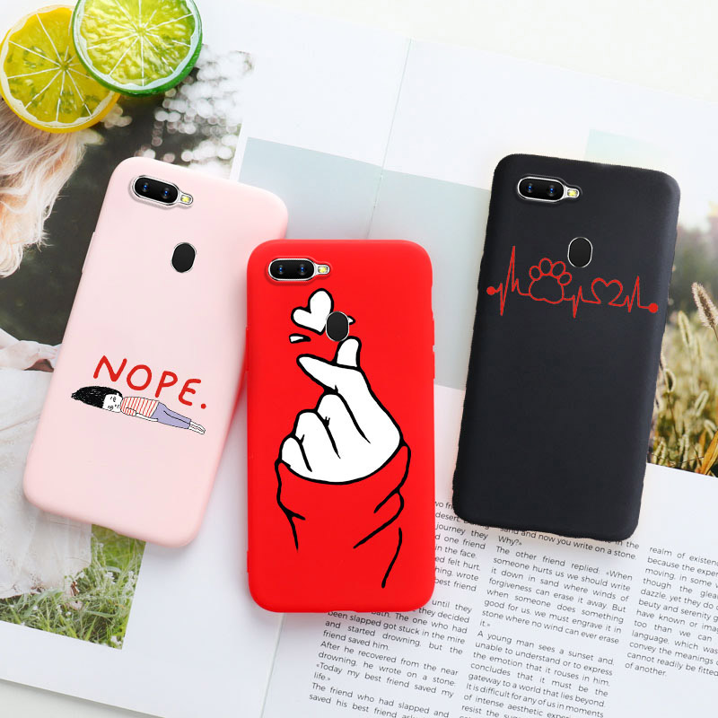 Silicone <font><b>Case</b></font> For <font><b>OPPO</b></font> <font><b>A5S</b></font> A3s F11 Pro F9 A33 A37 A39 A57 A59 A71 A79 A83 <font><b>A9</b></font> <font><b>2020</b></font> Reno Ace Z Realme XT 2 3 X Lite X2 Pro <font><b>Cases</b></font> image