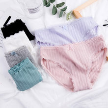 Lace Panties Women's Cotton Underwear Seamless Cute Girls Bow Briefs Lingerie Fashion Female Sexy Panties Solid Underpants New(China)