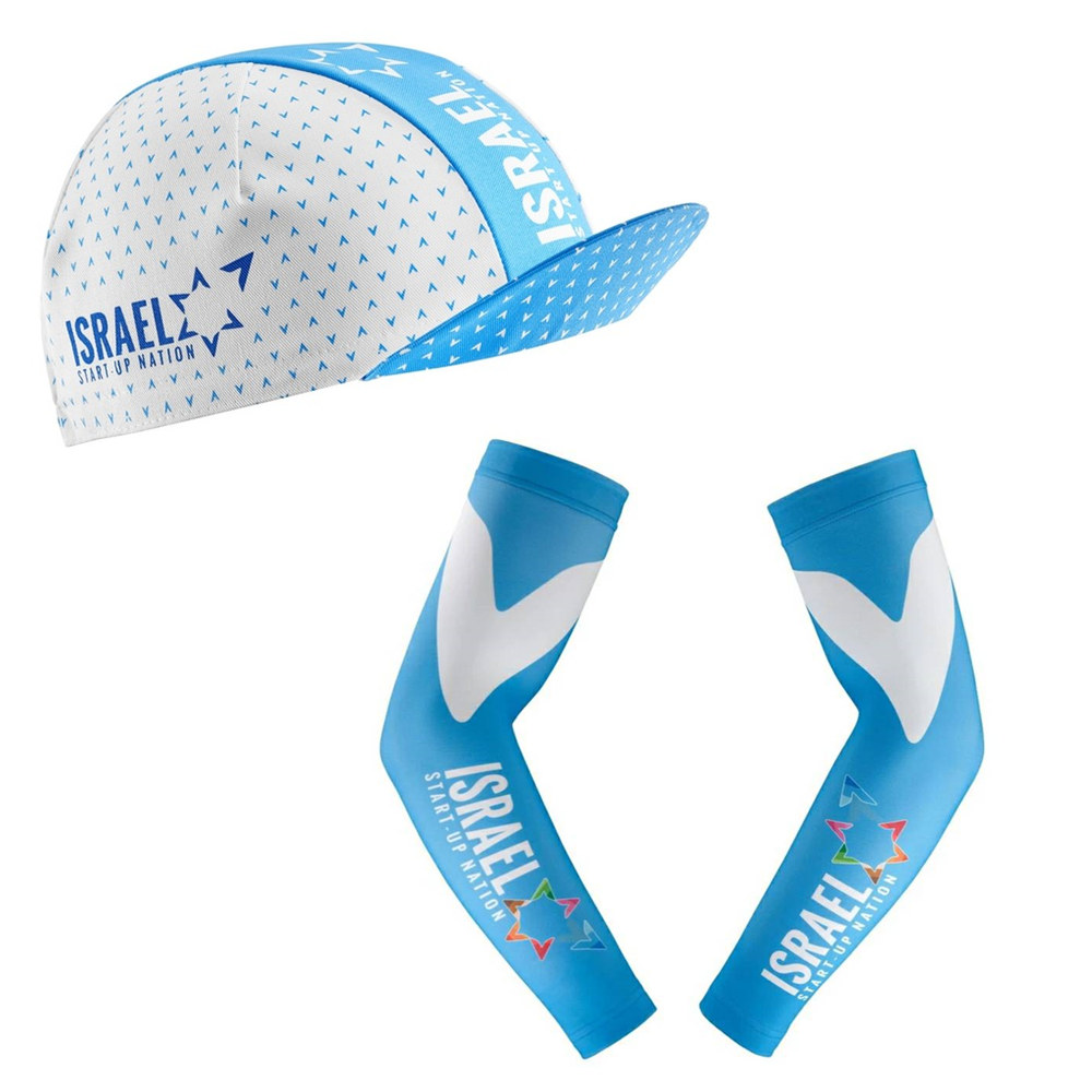Israel cycling academy 2020 new pro team Unisex bicycle hats ride caps MTB <font><b>bike</b></font> <font><b>wear</b></font> arm warmer cap multiple options breathable image