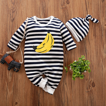 Newborn Baby Boy Clothes Outfits Set Boutique Infant Little New born Girl Suit Toddler Fall Kids Banana Costume 0 3 6 9 12 Month image