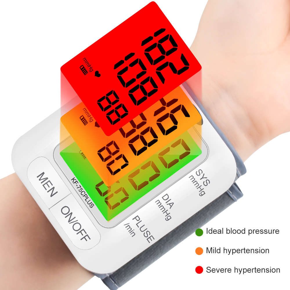 Cofoe Wrist Blood Pressure Monitor upgrade automatic sphygmometer voice three-color backlight heart rate and pulse health care 3