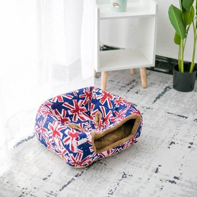 Фото теплый домик для домашних животных складная кровать кошек пещерное цена