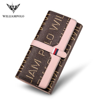 WilliamPoloWomen Wallets with Zipper Phone Pocket Purse Card Holder Patchwork Women Long Wallet Lady Tassel Short Coin Purse new arrival cartoon wallets with zipper coin pocket attack on titan dragon ball adventure time short wallet with card holder