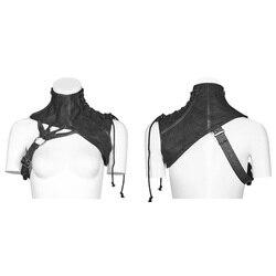 PUNK RAVE mujeres Steampunk cuello cubierta oscuro en relieve tejido Metal cremallera personalidad Collar accesorio