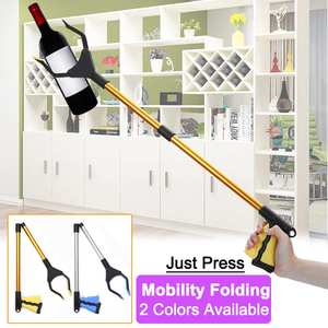 Foldable Litter Reacher Pickers Pick Up Tools Gripper Extender Grabber Picker Collapsible Garbage Pick Up Hand Tool Grabbers