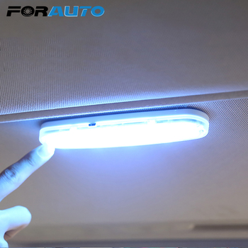 цена на FORAUTO LED Car Interior Reading Light USB Charging Dome Vehicle Indoor Ceiling Lamp Auto Roof Magnet Lamp Car-styling