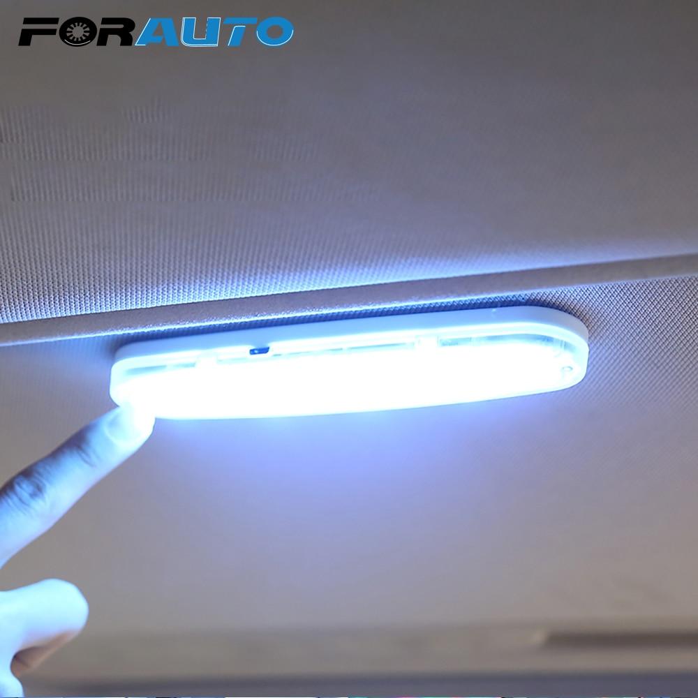 FORAUTO luz de lectura Interior de coche, domo de carga USB, lámpara de techo Interior para vehículo, lámpara de imán de techo, estilismo para coche|Lámpara de señalización| - AliExpress