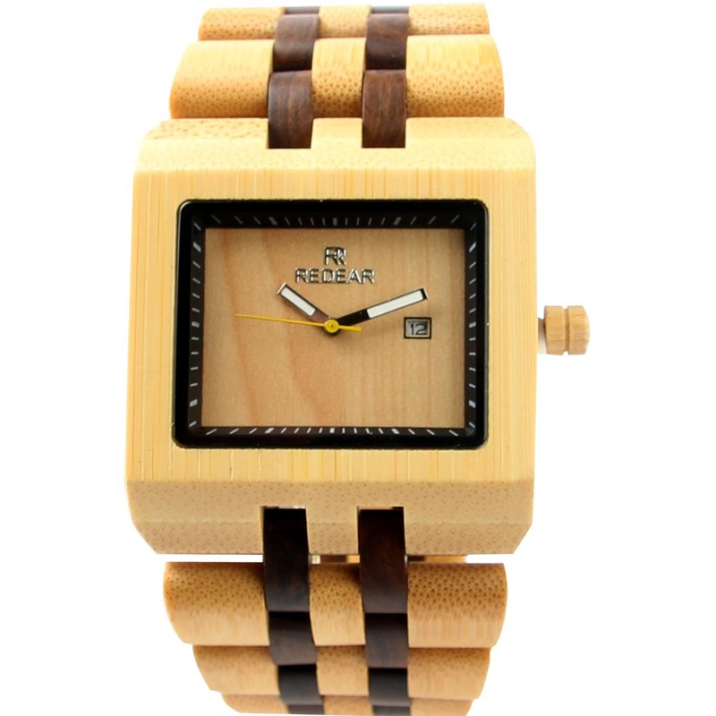 2019 Manufacturers Selling New Side Shell Men's Wooden Quartz Watches With Calendar Movement Hot Style Supplies