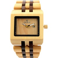 2020 Manufacturers Selling New Side Shell Men's Wooden Quartz Watches With Calendar Movement Hot Style Supplies |Lover's Watches|   -