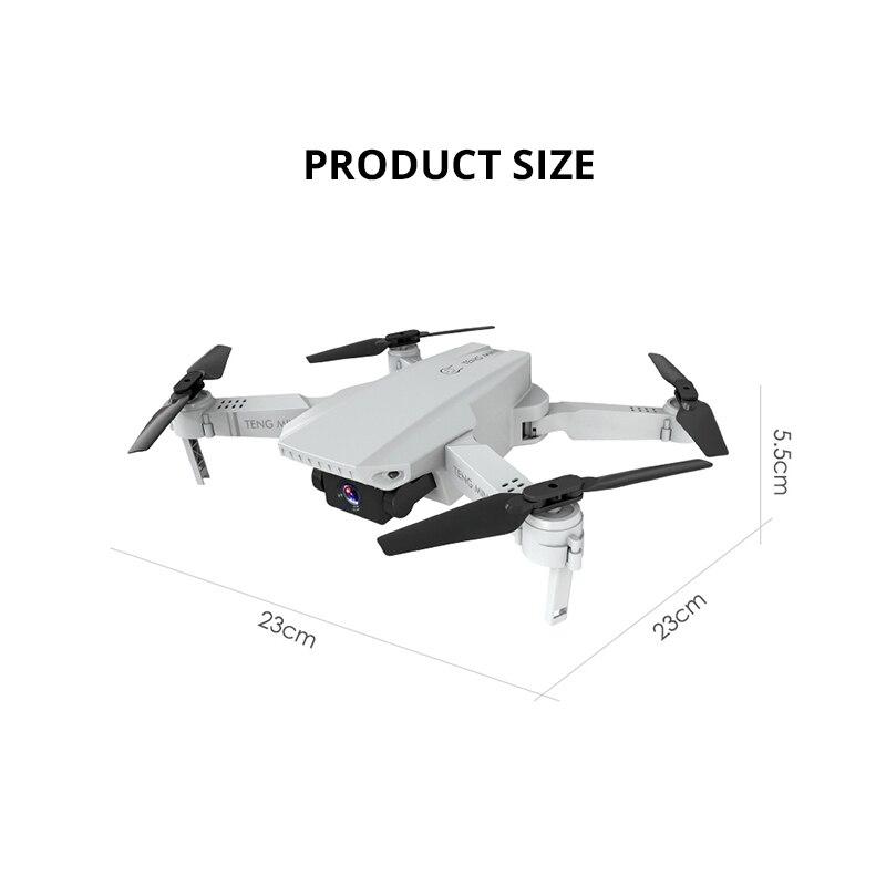 2020 MINI Drone Camera 4K WIFI FPV Aerial Video RC Quadcopter Altitude Hold Foldable 4K Drone with HD Camera Quadrocopter VS E68