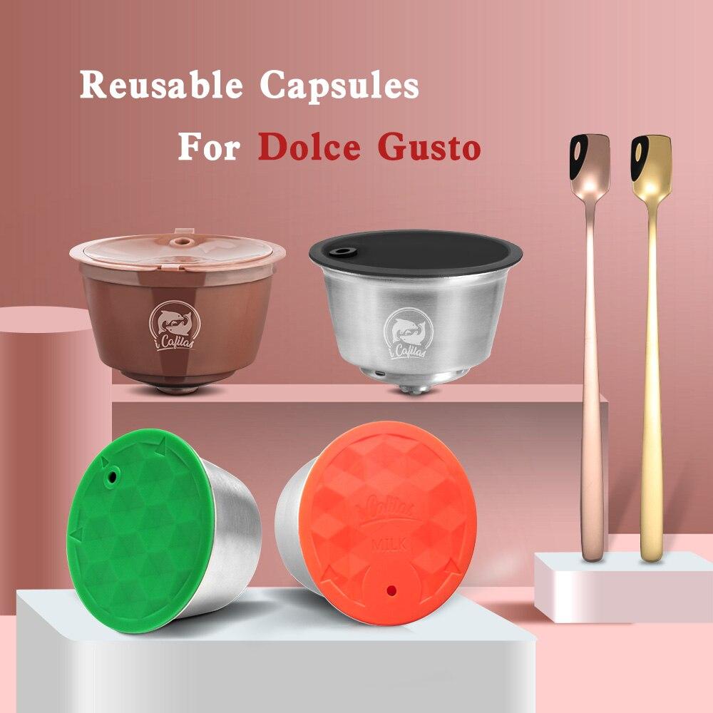 Per il Dolce Gusto di Caffè Capsula Capsula di Plastica Riutilizzabile Riutilizzabile Compatibile con Nescafé Dolce Gusto di Ricarica Uso Tazza di 150 volte