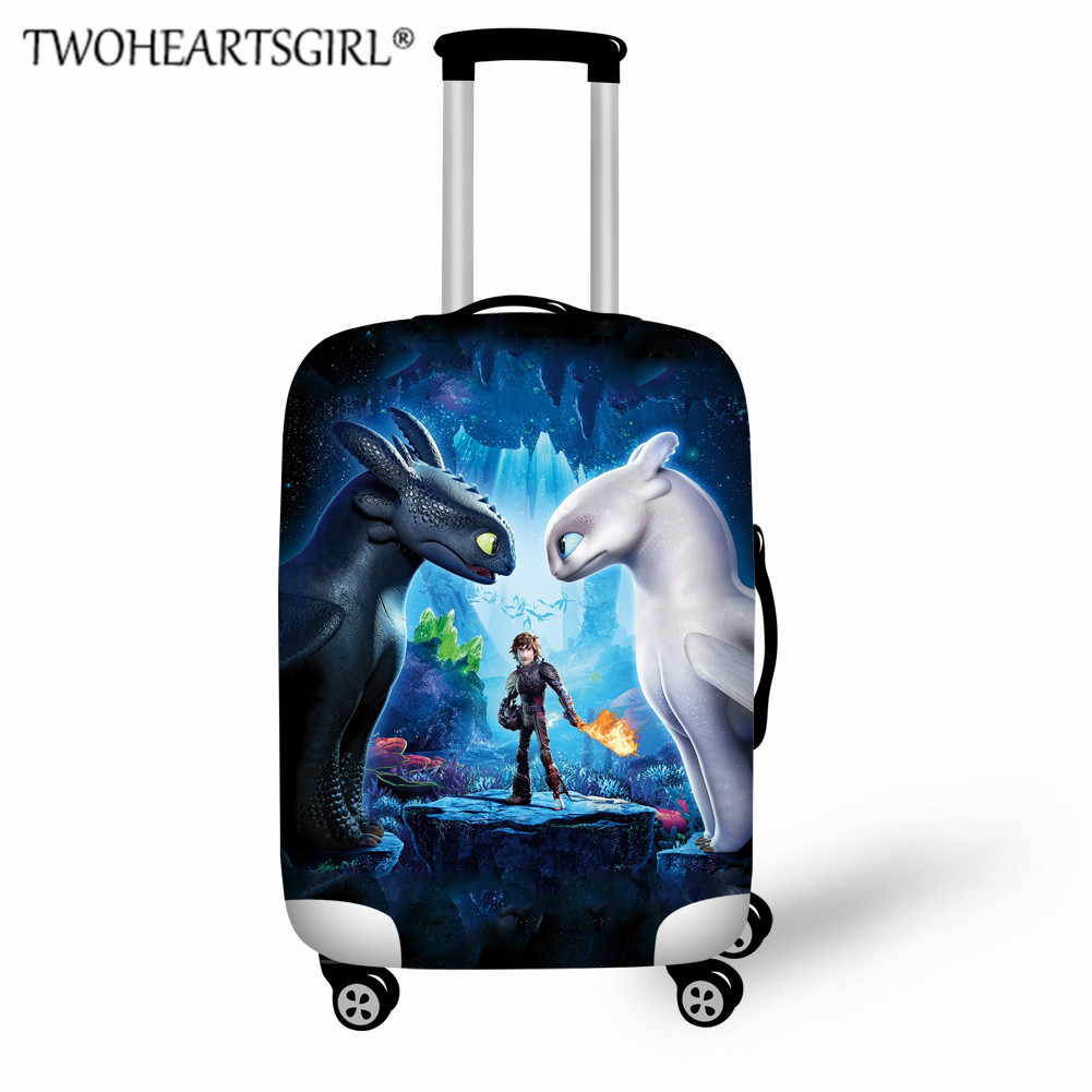How To Train Your Dragon Luggage Protective Dust Cover Thick Elastic Children Suitcase Cover For 18-32 Inch Trolley Case Cover