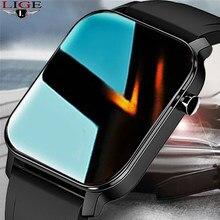 LIGE 2021 Men Smart Watch IP68 Waterproof Full Touch Screen Sport SmartWatch Women Heart Rate Fitness Tracker Women Smart Watch