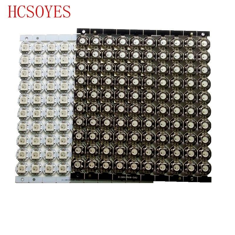 10 ~ 100 шт. WS2812B LED индивидуально адресуемый WS2811 IC rgb белый/черный 2812b светодиодный радиатор (10 мм * 3 мм) 5050 SMD RGB встроенный