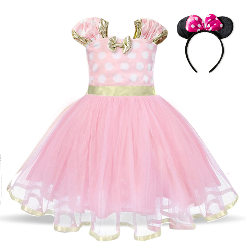 Baby Birthday Dress Girls Christmas Dress Baby Girl New Year Dress Up Clothes Birthday Party Polka Dots Casual Wear Vestidos 3