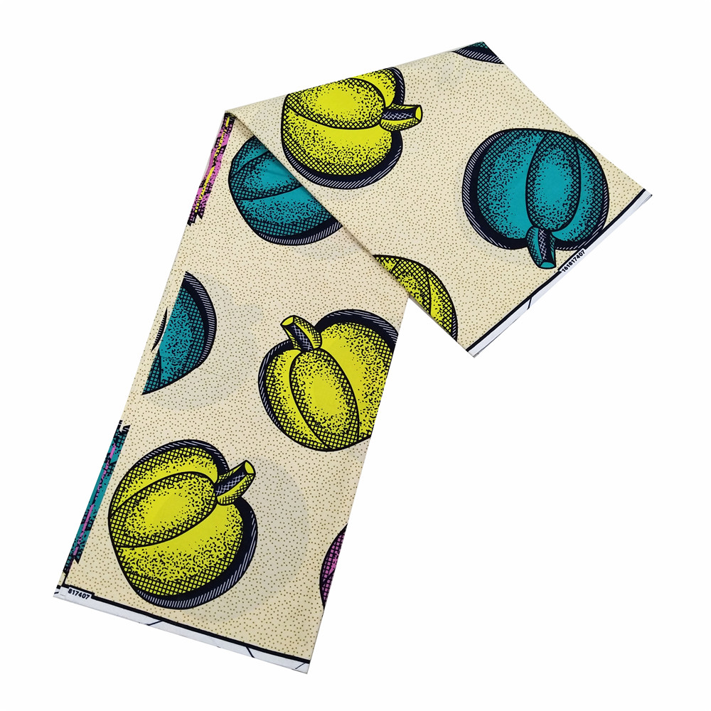 Dutch veritable wax Ghana African Wax Prints Fabric 6 Yards ANKARA wrapper 100 cotton in Fabric from Home Garden