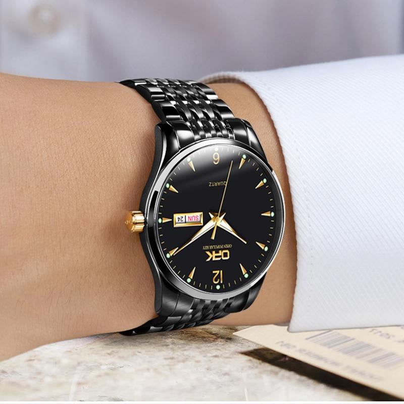 Fashion Ultra Thin Watch Men Luxury Brand Business Waterproof Luminous Blue Quartz Wristwatch Man Relogio Masculino Best Selling