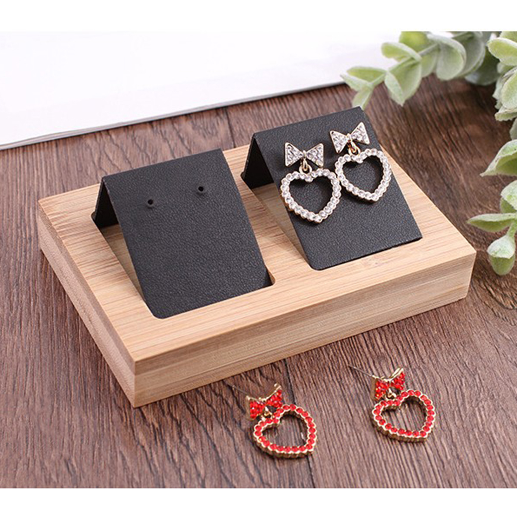 2pcs Earring Card Holder With Tray For Jewelry Accessory Display Hooks Storage Holder Organizer Display Stand