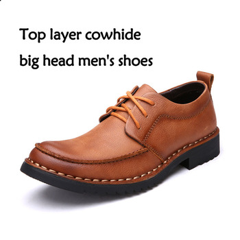 2020 Men Dress Shoes Genuine Leather Male Oxford Italian Classic Vintage Lace-up Men's Brogue Shoes Casual Shoe Moccasin Loafers