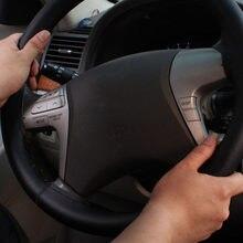Preto capa universal roda profissional carro caminhão 38cm mão costura 10.3cm