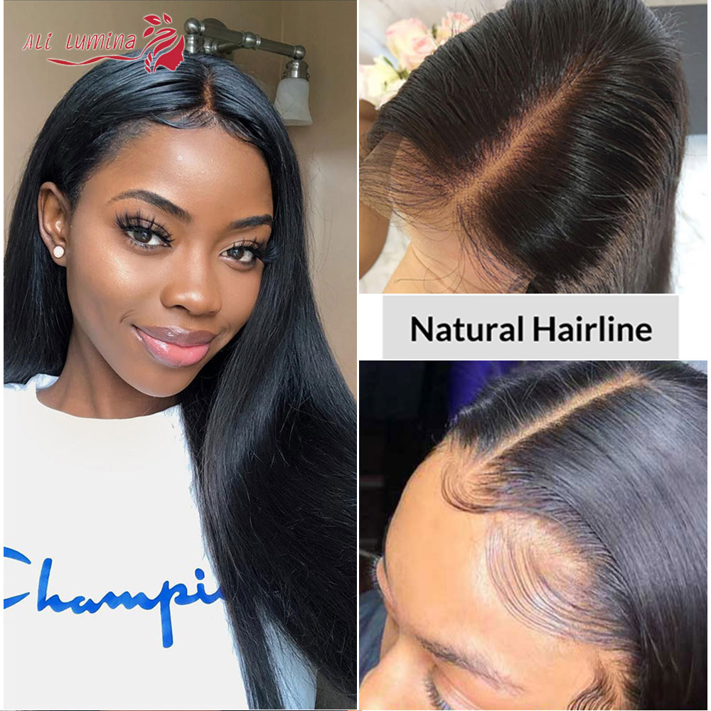 Straight  Wigs 13x4 4x4 Lace Front Wig Pre Plucked With Baby Hair 180% Density   Hair Lace Closure Wig 2