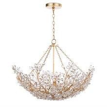 Дизайнерская Золотая хрустальная люстра Светильники для гостиной