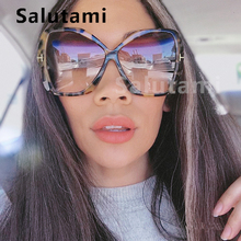 цена на Irregular Oversize Square Sunglasses For Women 2019 Luxury Brand Letter Frame Big Sun Glasses Female Bow Shape Eyewear Black