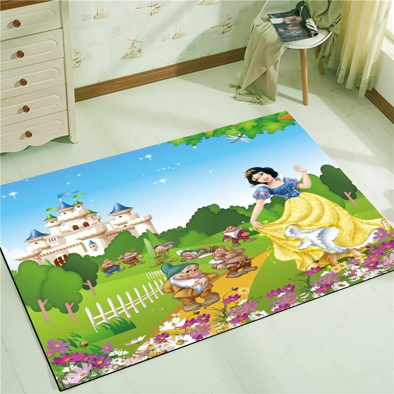 Snow White Waterproof Door Mat Cartoon  Mat Cute Kitchen Rugs Bedroom Carpets Decorative Stair Mats Home Decor Crafts