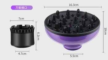 Difusor Universal para Secador de Pelo
