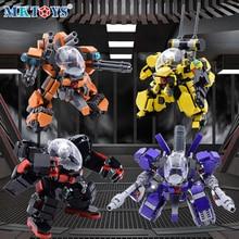 Alpha Squad Robot Fighter Mech Building Blocks Military Wars Series Galaxy Soldier MOC 3D Model Figures DIY Bricks Boys Toys