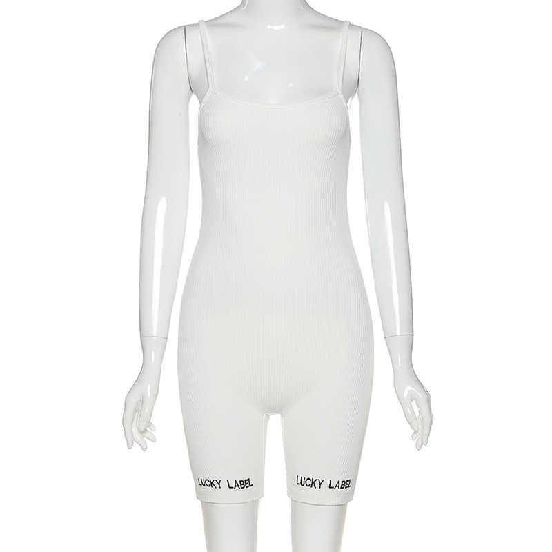 FQLWLสายRibbedถักเซ็กซี่Romperชุดสตรีกางเกงขาสั้นหญิงBacklessสุภาพสตรีสีขาวสีดำBodycon Jumpsuit Playsuit