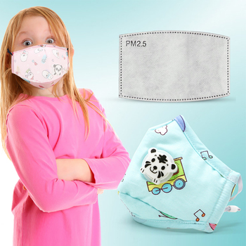 PM2.5 Washable Mouth Mask With Valve Kids Children Anti Haze Dust Mask Lovely Nose Filter Face Muffle Bacteria Flu Respirator