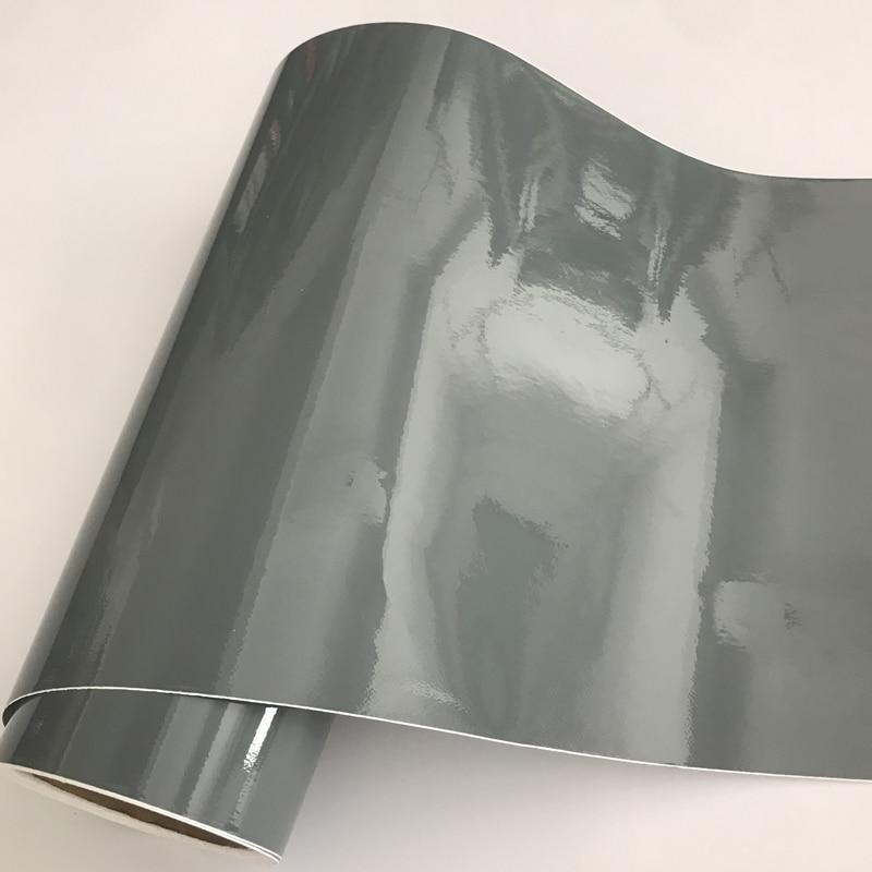 50x300cm Elefant Grau Nardo Grau Gloss Vinyl Auto Wrap Film Roll DIY Einfach zu Installieren Keine-chaos Aufkleber