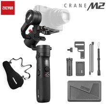 Zhiyun vinç M2 3 Axis el Gimbals akıllı telefonlar için aynasız kamera ve eylem kompakt kameralar sabitleyici Sony Canon m6
