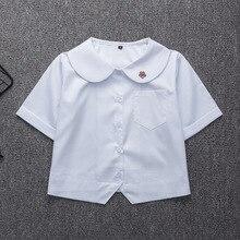 Японская школьная форма для девочек, белая рубашка с коротким рукавом, школьное платье Jk, костюм моряка, топы с вышивкой сливы, милая Рабочая форма