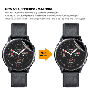 Image 5 - 3Pack For Samsung Galaxy Watch Active2 40mm/44mm Smart Watch 5H TPU Nano Anti shock High Definition Screen Protector Clear Film
