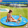 170cm Summer Children's Outdoor Play Water Spray Games Beach Mat Lawn Inflatable Sprinkler Cushion Toys Cushion Gift Kids Baby