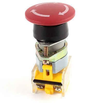 AC 660V 10A DPST красный гриб самоблокирующийся аварийный стоп кнопочный переключатель