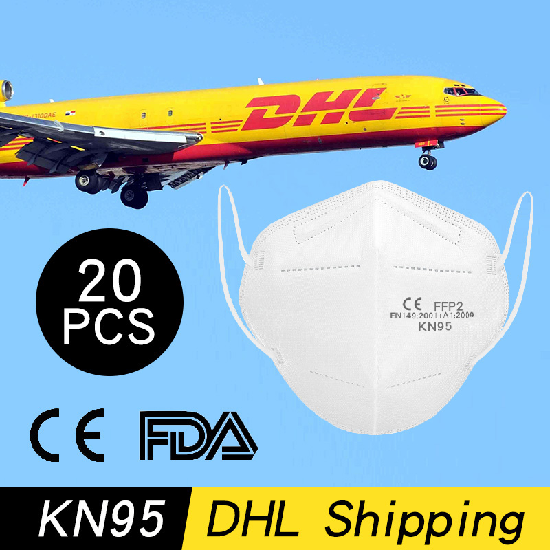 100/20/10pcs  KN95 N95 Respirator Antivirus Mask Ffp3 Mask Virus Prevention Smog Kf94 Antivirus Masks Face Mouth Masks