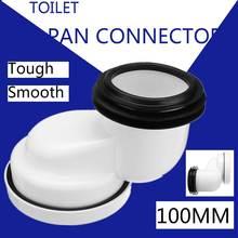100 мм ПВХ Смещенный унитаз мусорный лоток соединитель чаша гладкая грунтовая труба белый ПВХ для ванной комнаты и туалета Запчасти Аксессуа...