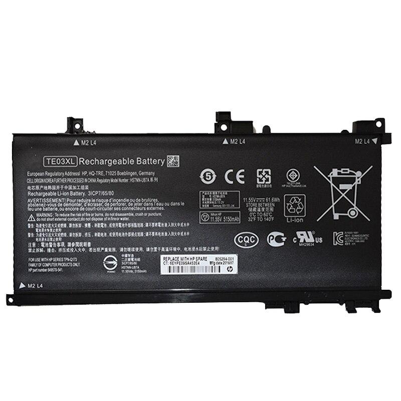 GZSM Laptop Battery TE03XL For HP OMEN 15-AX Series 15-BC000 OMEN 15-AX 15T-AX Battery For Laptop 9570-541 849910-850 Battery