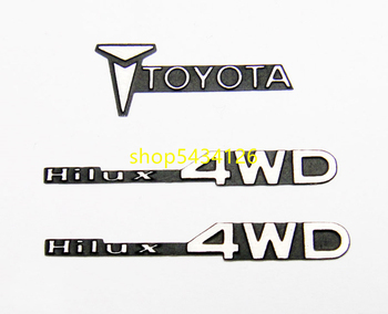 Rc Cars Body Shell Metal Logo Sticker For 1/10 Toys Rc Truck 4wd Trail Finder 2 Tamiya Toyota Bruiser Hilux Pickup Accessories image