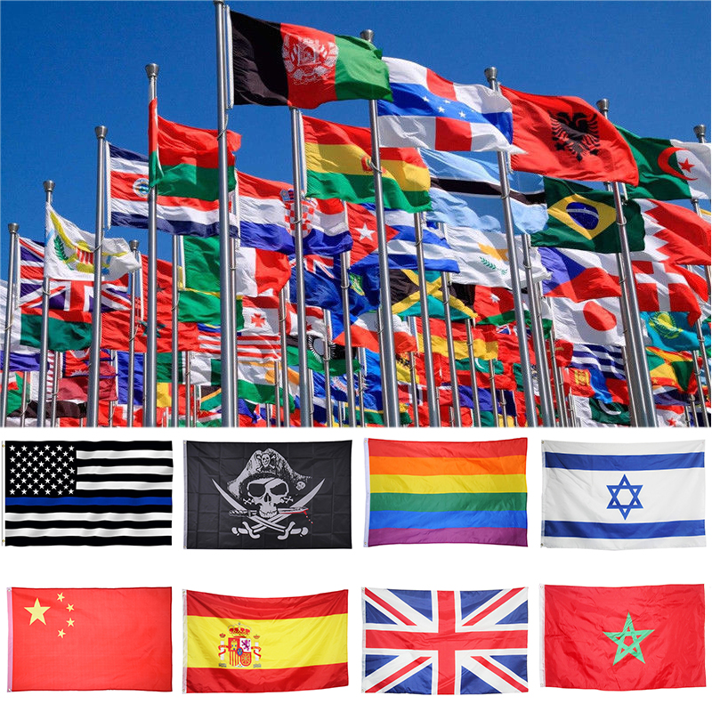 Durable World Country Polyester National Flag World Country National Day Flag Ornament Decor Custom Country Banner