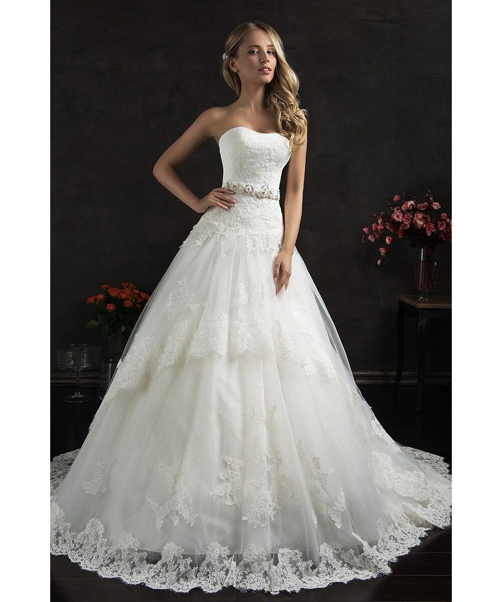 Charming Backless 2018 Vestido De Noiva Chapel Train Applique Tulle Sweetheart Neck Bridal Gown Mother Of The Bride Dresses