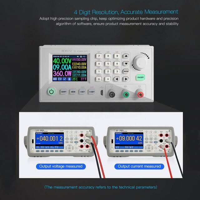 RD6012 RD6012W voltmètre USB Buck numérique alimentation cc WIFI Module abaisseur régulateur convertisseur réglable 60V 12A