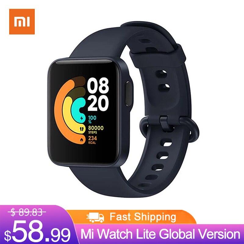Mi Watch Lite глобальная версия GPS фитнес-трекер монитор сердечного ритма спортивный браслет 1,4 дюйма Bluetooth 5,0 умные часы-0